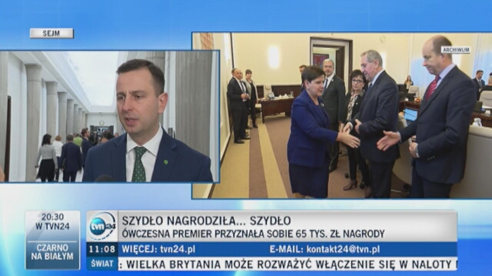 Kosiniak-Kamysz: nie dostałem żadnej nagrody jako minister