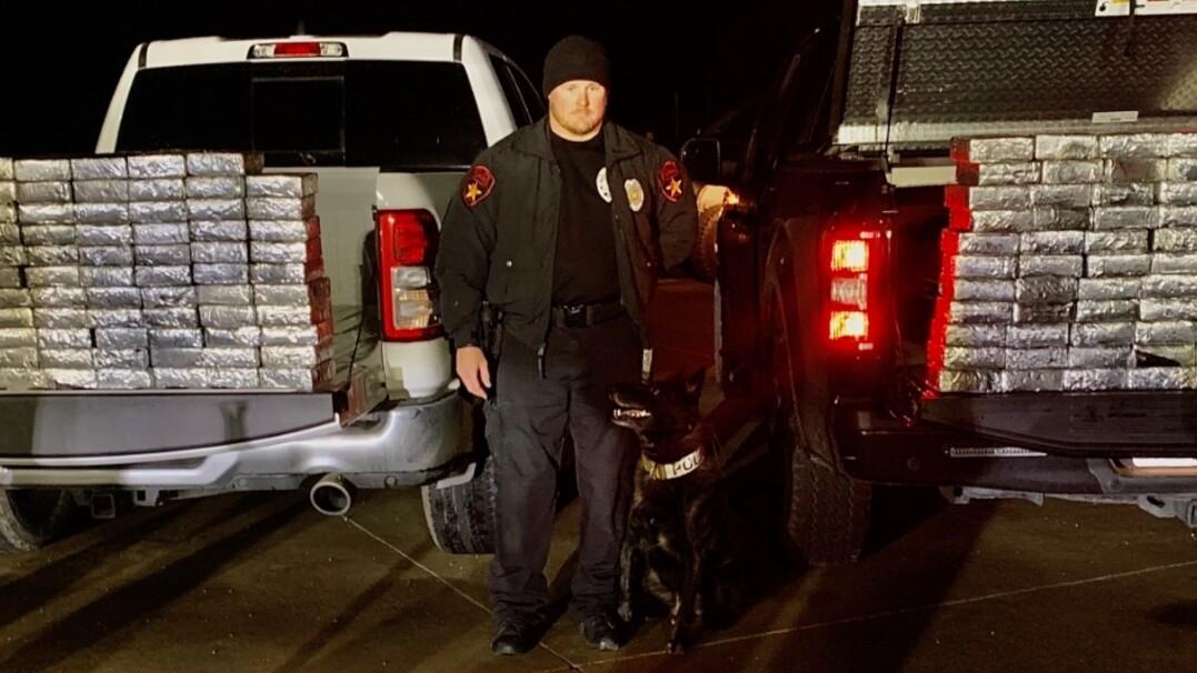 Policyjny pies wyczuł narkotyki warte ponad milion dolarów