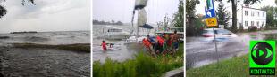 Nawałnice przeszły nad Mazurami. Cztery łódki poszły na dno