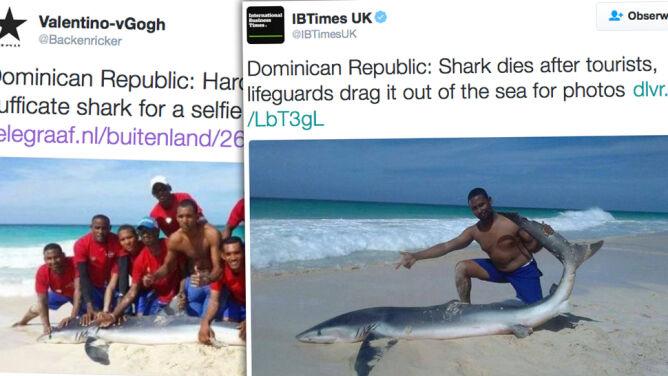 Zabili rekina i zrobili sobie z nim zdjęcie
