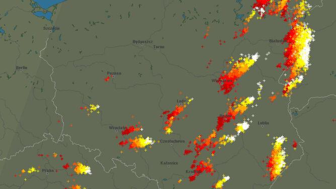 Regiony wschodnie nadal pod znakiem burz
