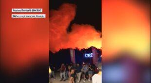 Ogień nie rozprzestrzenił się na plażę