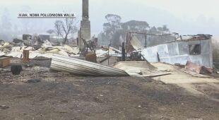 Zniszczenia w miejscowości Kiah w Nowej Południowej Walii